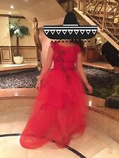 Monique Lhuillier Oscar De La Renta Custom Made Dress, Off Shoulder  SZ 8