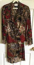 2 PC Set Womens Options by Worthington Long Sleeve Floral Blouse & Skirt NWT