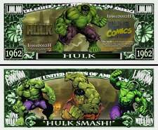 HULK ! BILLET de collection 1 MILLION DOLLARS ! Série Super Héros Marvel Comics