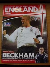 28/05/2008 England v United States Of America [At Wembley]  (Item Has No Apparen
