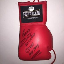 Carlos Zarate Autographed Stat Boxing Glove, All hand written by Carlos FP COA
