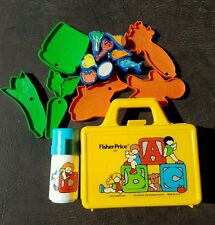 Complete Vintage 1979 Fisher Price 638 ABC Play School Lunchbox w Thermos & food