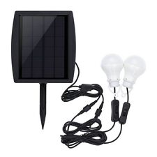 Super Bright 2W Outdoor/Indoor Solar Power LED Lighting 2 Two Bulbs Lamp System