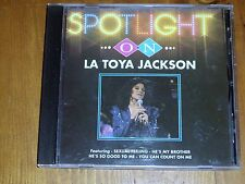LA TOYA JACKSON  *CD ' SPOTLIGHT ON LA TOYA JACKSON ' 1993 EXC