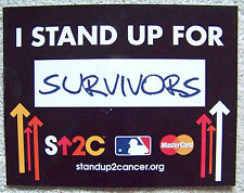 NY Mets 2015 Citi Field 1st WORLD SERIES SU2C I Stand Up For Cancer SURVIVORS
