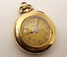 Antique 14K Gold Montauk Pocket Watch Pendant Mechanical Wind Up Marvin Swiss