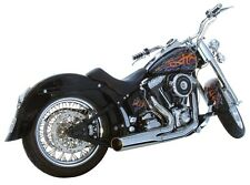 Harley Softail 2 into 1 Exhaust Short Style Exhaust