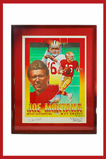 1991 Lithograph Hand Signed by Joe Montana and Artist Ron Lewis #1544 of 2500