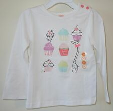 NWT Gymboree Happy Birthday Cupcake Top Girl's Size 2T CUTE!