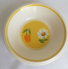 Vintage 70s MIKASA BRUSHED YELLOW DENIM Coupe Cereal Bowl E4301 Multiples Avail.