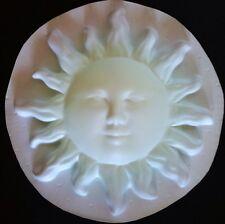 Sun Wall Plaque Plastic Mold Plaster Concrete Cement Mould
