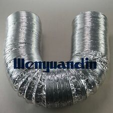 50mm aluminum foil hose ducting flexible 8m pipe Ventilation for greenhouse