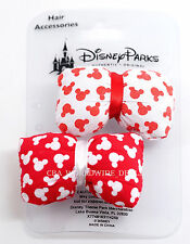 NEW Disney Parks Hair Accessories - Red & White Mickey Ears Bow Clips (2-Pack)