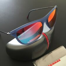 Prada SPS01/P Unisex Active Sport Red Mirrored Wayfarer Light Weight Sunglasses