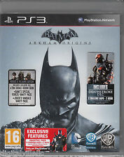 Batman Arkham Origins PS3 Heroes & Villian Edition with extra maps and DLCs NEW