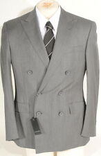 Ralph Lauren Black Label Wool Grey Double Breasted  Suit 42R 33W Italy $1995