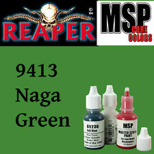 NAGA GREEN 9413 - MSP 15ml 1/2oz paint pot peinture figurine REAPER MINIATURE
