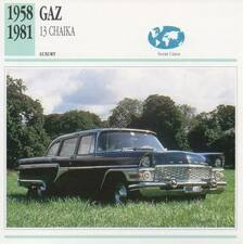 1958-1981 GAZ 13 CHAIKA Classic Car Photograph / Information Maxi Card