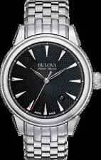 Bulova Accu Swiss 63B174 Gemini Collection Automatic Stainless-Steel Watch