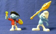SMURF Painter & Clumsy - McDonalds 2011 toy collectibles - Exc Cond