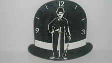 QUIRKY CHARLIE CHAPLIN WOODEN WALL CLOCK by MARK THURGOOD, LONDON