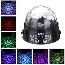 Mini LED Battery Rotating Stage Light DJ KTV Disco Party Lighting Effect Lamp