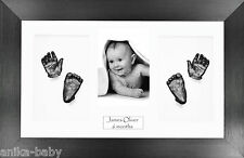 New Large Baby Twins Casting Kit Hand & Feet Casts Brushed Pewter Display Frame