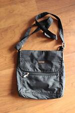 Baggallini Town Bagg Large Crossbody Nylon Black/charcoal grey with Tan Lining