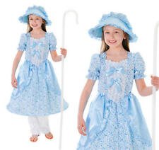 Childrens Little Bo Peep Fancy Dress Costume Book Week Day Outfit Girls Kids L