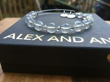 ALEX and ANI ICE FLARE Canvas SWAROVSKI Crystal Silver BEADED Bangle BRACELET 💎