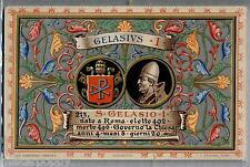 PAPA GELASIO I Pope Roma Vaticano Blessed PC Viaggiata 1920 Benedetta da Pio X