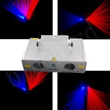 New 2013 2 lens 200mw 650nm Red + 300mw 450nm Blue DMX disco laser lights
