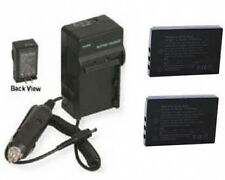 2 Batteries + Charger for Sanyo VPC-HD2000A VPC-HD2000ABK VPC-HD2000EX VPC-TH1