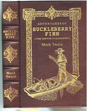 Huckleberry Finn by Mark Twain Samuel Clemens 1994 Leather! Easton Press Book! $