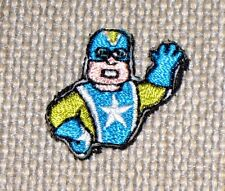 "20pc Lot Animated SUPERHERO Patches 1"" x 1"" Hook Backed ~ FREE U.S. SHIPPING"