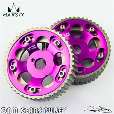 2Pcs Adjustable Cam Gears Pulley Timing Gear for Toyota Supra 1JZ 2JZ purple