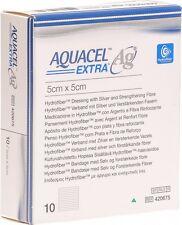 """Aquacel Extra Ag 5cm x 5cm (2"""" x 2"""") wound dressing hydrofiber with silver X10"""