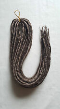 Elysee Star - #18 Dark Golden Brown Synthetic Dreadlocks (Double Ended) x 12
