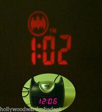 Batman alarm clock projector ceiling batsignal head mask GOTHAM vtg am fm radio