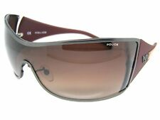 Police Stunning Cool Sunglasses S8826 627X Red Brown Shades Wraparound New