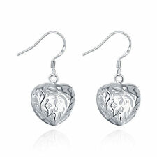 New products Cheap Wholesale Female 925 silver filled in vain Heart Earring Gift