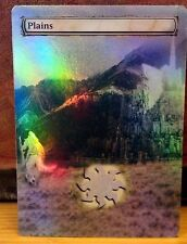 FOIL MTG PLAINS ALTERED ART LORD OF THE RINGS MINAS TIRITH GANDALF COMMANDER EDH
