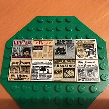 LEGO HARRY POTTER QUIBBLER / OLD TIMES / FINANCIAL NEWSPAPER 2 X 2 FLAT TILE