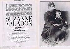 COUPURE DE PRESSE CLIPPING 1983 Suzanne Valadon (4 pages)