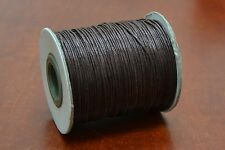 100 METER BROWN WAXED COTTON BEADING CORD STRING ROLL 1MM #F-51J