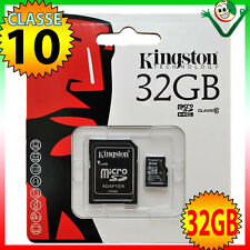 Scheda MicroSD originale KINGSTON 32GB classe10 per Samsung Galaxy Tab 4 7 T230
