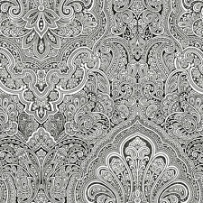 WALLPAPER SAMPLE    Gorgeous Black and White Paisley