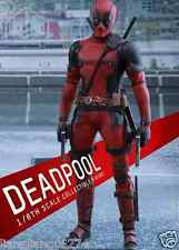 New Hot Toys Movie Masterpiece Deadpool 1/6 Scale Fully Poseable Figure Japan 08
