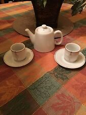 Collectible AMERICAN AIRLINES ESPRESSO CUP &  SAUCER Sets W/ Coffee Tea Pot NEW