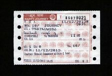 10 * 11 * 12 * 13 * 14 * 15 *16 On Bombay Local Train Ticket! Super Collectible!